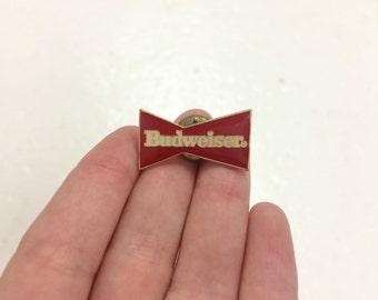 vintage 1980s NOS enamel Budweiser beer pin