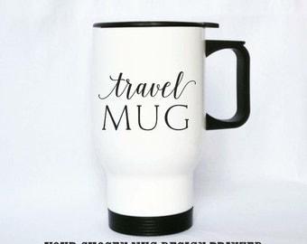 Custom travel mug, 14oz, Gift mug