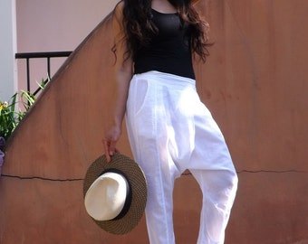 Harem Pants ...Leisure Pants ...Color White