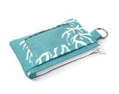 ID Wallet / Keychain ID Wallet / ID Holder in Blue and White Coral Print