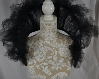 Polymorph and Tulle Neck Collar