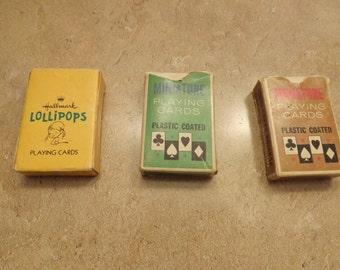 Three Mini Decks of Playing Cards