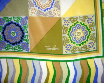 Tino Lauri silk scarf, multicolored, geometric print