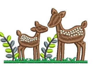 deer embroidery design