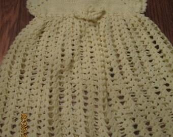 Adorable Little Girls Handmade Hand Crocheted Vintage Dress