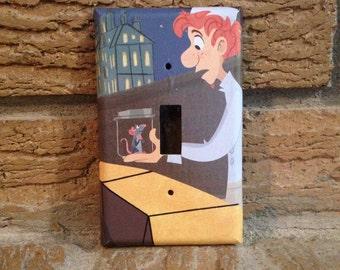 Ratatouille Light Switch Cover, Linguini and Remy, Ratatouille Decor, Decoration, RAT4