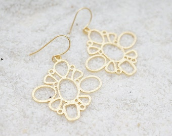 Bubble Chandelier, Simple Filigree, Bohemian Chic Earrings Only one available Minimalist Hippie Gift for her, Earrings