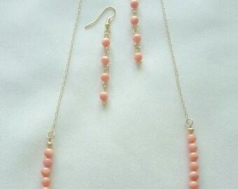 Peach Coral Set
