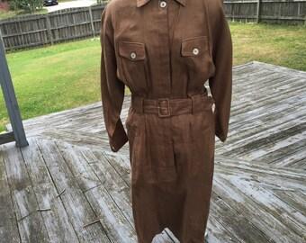 Vintage shirtwaist belted dress size 6