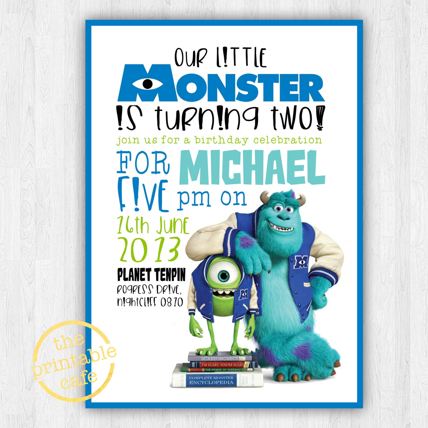 Monsters Inc invitation ONLY Modern Contemporary Kids