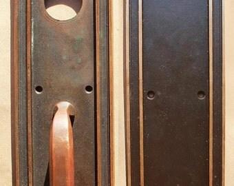 Antique Art Nouveau Roanoke Bronze Entry By Pennantiquerestore