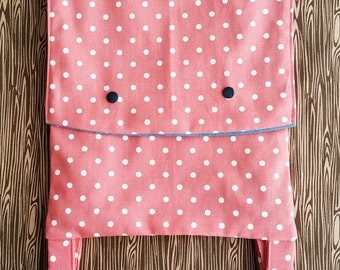 Small toddler backpack, fully lined, with adjustable straps. Handmade.