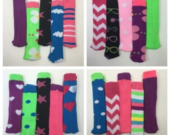 "Doll Clothes, Doll Socks, lot of (5) pair of 18"" Doll Knee Socks"