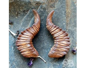 Peatland Satyr Horns - Hair Clips Fantasy Woodland Fashion