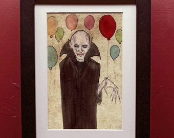 Vampire Birthday Archival Art Print