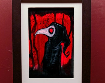 Black Plague Archival Print in 4 by 6 Inch Frame