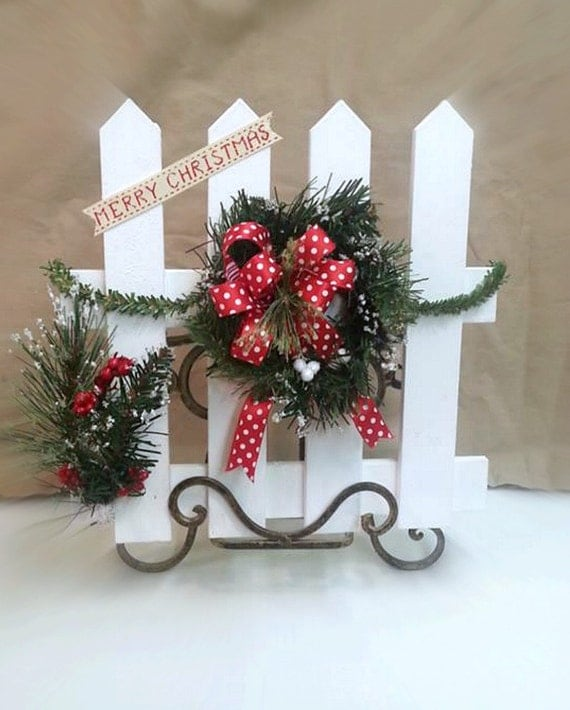 Christmas Decoration Country Christmas Fence Decor Country