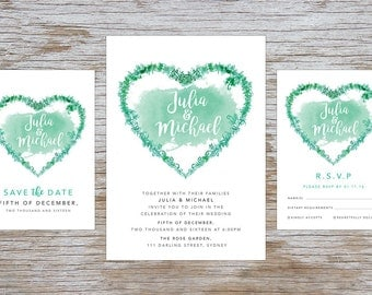 Wedding Invite – Heart Vine Printable Wedding Invitation Suite