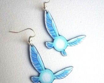 Legend Of Zelda LOZ Link Fairy Companion Navi Hey Listen Wings Butterfly Video Game Geek Metal Earrings