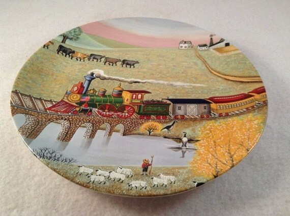 Lowell Herrero Art Plate American Folk Art Limited Edition Collector Plate by Vandor