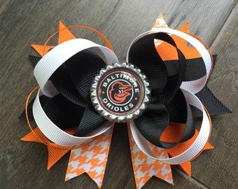 Baltimore Orioles Hair Bow