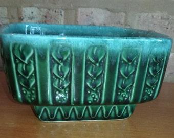 Teal,turquoise mid century hull planter