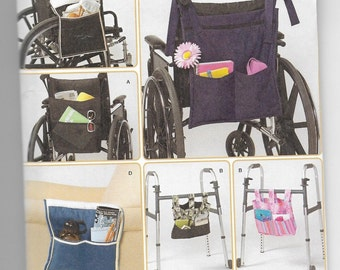 2822 Simplicity Accessories for Wheelchair, Walker, and Lounge Chair Sewing Pattern Organizers
