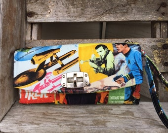 Star Trek Classic Dr Spock Wallet / Clutch - Comic Style Fabric