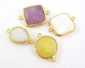 CLEARANCE DISCOUNT - 22k Gold plated Bezel - 4pc- LOT 2