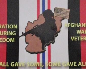 "Operation Enduring Freedom"" Afghanistan War Veteran"" 4"" x 7"" Bumper Sticker 2-Stickers Per Order"