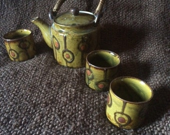 60s style tea set