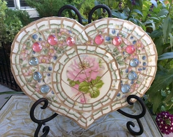 Mosaic Wooden Heart (#112)