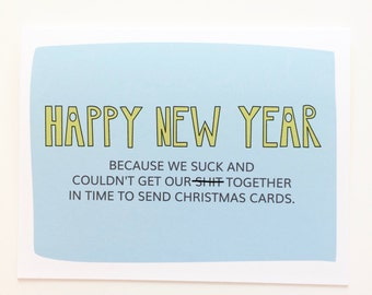 Funny New Year Card. New Years Cards. Happy New Year. Happy 2017 card. Mature New Year Card.