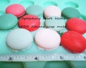 French macaron mold, macarons soap mold, wax mold, polymer mold, resin mold, tart mold, silicon mold, fondant sugar mold