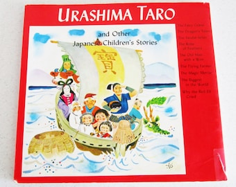 Urashima Taro and Other Japanese Children's Stories Softcover Vintage 1980 Illustrated