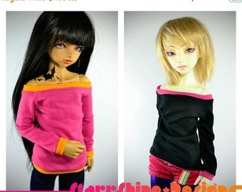 Sale 25% Off BJD MSD 1/4 Doll clothing - Wide-Neck Sweater - Your Choice of 20 Colors