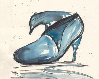 Blue whale heel