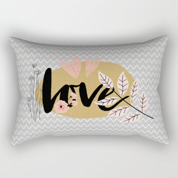 wedding day love decorative throw pillows black pink gold