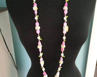 Vintage Flower Necklace from Elder-Beerman
