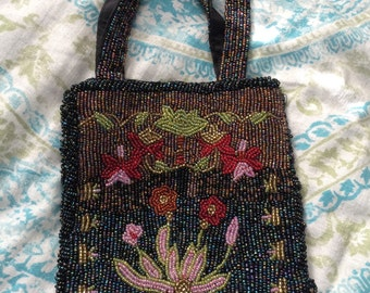 Heavily beaded purse/pouch