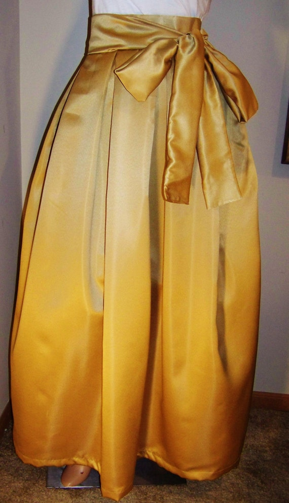 fit and flare gold box pleat maxi skirt with by