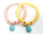 Beaded Bracelet, Stretch Bracelet, Pastel Beaded Bracelet, Handmade Custom, Women's Jewelry, Bridesmaid GiftBead
