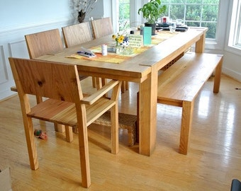 Traditional White Oak Table, 100% Solid Wood, classic style