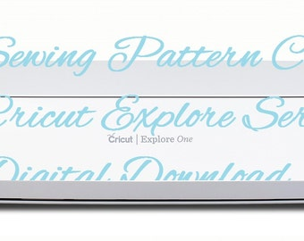Digital Sewing Pattern- Cover for Cricut Explore, Explore Air, Explore Air2! Digital Download! Sewing Pattern Cricut Cover Cover for Cricut