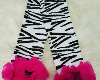 Hot Pink Zebra Legwarmers