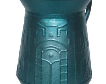 Judaica Hand Wash Cup Netilat Yadayim Natla Last Waters Turquoise Engraved