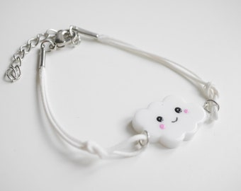 Kawaii cloud bracelet