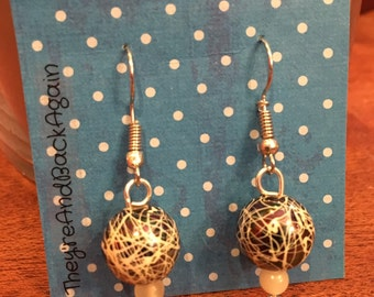 Crackle&GlowInTheDark Bead Earrings
