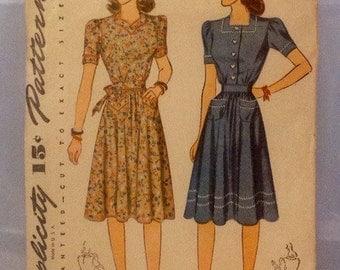 Simplicity Pattern, Vintage Simplicity, Vintage Pattern, 1930 Dress Pattern, Vintage Size 14, Dress Pattern 1930, Misses' Pattern