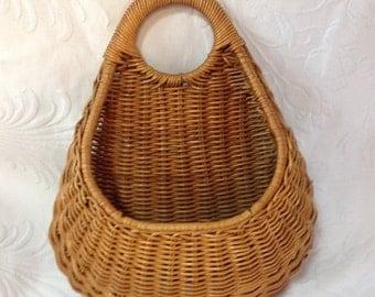 25%  Sale Event Wicker Wall Pocket Wicker Flower Basket Wall Mount Basket